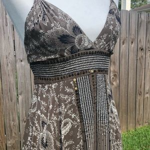 BCBGMaxAzria Silk Bandana Dress